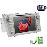 Wholesale android tv for camry for sale - 8 Android Quad Core Car Stereo Touchscreen Double Din GPS Navigation Car DVD Player for TOYOTA CAMRY In Dash Bluetooth WiFi P