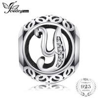 ingrosso y fascini-Jewelrypalace Lettera Y 925 Sterling Silver Cubic Zirconia Perline Charms Fit Bracciali Regali Per La Donna Anniversario Gioielli di moda