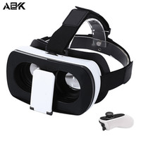 vr 3d очки для смартфонов оптовых-ALBK V2 3D VR Glasses Virtual Reality Glasses 96 Degree View Angle with Romote Controller for 3.5 - 6.0 inch Smartphones