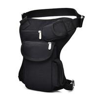 Wholesale motorcycle waist belt bag resale online - New Men s Canvas Drop Leg Bag Messenger Shoulder Belt Hip Bum Fanny Waist Pack for Travel Trekking Motorcycle Riding Masculina