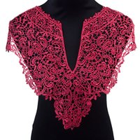 flores de tecido para costura venda por atacado-Organza Ferramenta Artes Misaya 3pc Polyester 4 cores Flower Lace decote artesanais de tecido do vestido de casamento Lace Collar Para Costura Suprimentos Crafts