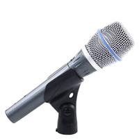 ingrosso migliori microfoni a filo-BETA87C Microfono con microfono dinamico professionale per computer BETA 87C 87 Microfono per studio microfonico Mixer per karaoke Amplificatore DJ