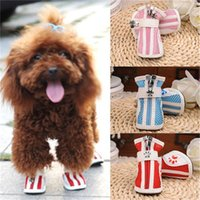 Wholesale boots for male online - Pet Puppy Skidproof Boot Ox Tendon Ventilation With Grid Dog Shoes Non Slip Soft Sole For Small Medium Pets Supplies za jj
