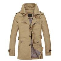 casaco de sobretudo venda por atacado-2018 Novo Homens Jaqueta Blusão de Moda dos homens Homme Formal Terno de Inverno Casaco de Algodão Sólido Casaco Marca de Roupas M-5XL Homens Parka