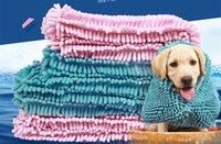 grandes serviettes de chien achat en gros de-S / M / L Chien Chat Bain Serviette pour Animaux Serviette Super Absorbant Couverture Serviette Séchage Rapide Extra Large Chenille Fibre