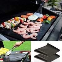 Wholesale extra packs - Non stick Teflon BBQ Grill Mat Extra Thick Thermostability Grilling Sheet FDA teflon baking mat BBQ Bakeware Tool COlor Box PAck XL