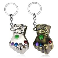 Wholesale cars fashion online - The Avengers Thanos Keychain Cartoon Thanos Pendant Keychains Thanos Metal Toys Fashion Accessories Kids Gifts CCA9722