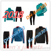 Wholesale Fly Sportswear - New 2018 world cup Spain Soccer jacket TRAINING SUIT 2018 Germanys Belgium Argentina soccer jacket kit Italy TRACKSUIT SPORTSWEAR KIT