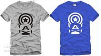 ücretsiz gönderim çocuk t-shirt toptan satış-Ücretsiz kargo yaz tee çocuklar tişörtlü çocuk T-shirt Kaptan Amerika baskılı anime t shirt çocuklar için 6 renk 100% pamuk