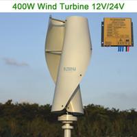 controlador de generador de turbina al por mayor-Nuevo generador de viento vertical del generador de turbina de viento de Maglev 400w 12v24v48v con el regulador de 12v 24v MPPT