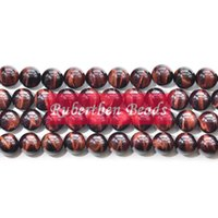 Wholesale NB0019 High Quality Natural Stone Red Tiger Eye Beads Natural Stone Loose Bead mm Round Beass for Making Jewelry