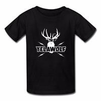 impresión personalizada en línea al por mayor-Hacer una camiseta Online Short Men Algodón Crew Neck Hombre impreso Yelawolf Tee Shirt Custom Crew Neck Cool Camiseta M Negro Camisetas