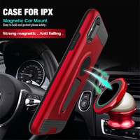 Wholesale rugged cars online - Case for iPhone Xs Max Xs iphone Xr Car Holder Magnetic Suction Bracket Shockproof Rugged Armor Phone Cover for iPhone Note9