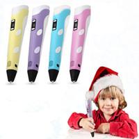Wholesale 3d drawing pen kids for sale - 2018 D Drawing Pen DIY D Printer Pen ABS Filament mm Arts D Printing Pen Educational Gift For Kids Design Painting Drawing C4642