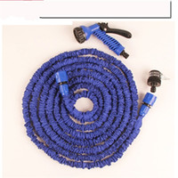 Wholesale High Pressure Car Wash Blue Green Latex m25ft Telescopic Expanding Flexible Hose Spray Nozzle Bathroom Faucets Accessories bm6 bb