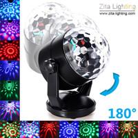 ingrosso decorazioni palla palla-Zita Wholesale Voice Sound Control Luci da palcoscenico LED RGB Night Lamp USB Battery Power Magic Ball Disco Crystal DJ Club Bar Decorazione del partito