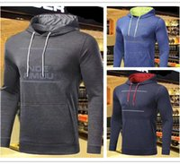 Wholesale hoodie styles men - NEW UA jogging clothes Running Style Man Long Sleeves Hoodies Sweatshirts Trendy Male Shirt Hip Hop Sport Sweater Fleece Coat