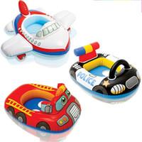 carreras inflables al por mayor-Diverso estilo del anillo de natación Space Explorer Jet Aircraft Racing Driver asientos inflables suaves natación círculo de alta calidad 12 5ty X
