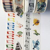 notas musicales pegatinas al por mayor-jiataihe washi sticker adhesivo kawaii stationery Notas musicales cinta adhesiva Music not set Adhesive Scrapbooking 2016
