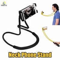 iphone como telefone venda por atacado-Suporte Preguiçoso Universal 360 Graus de Rotação Flexível Telefone Selfie Titular Cobra-como Pescoço Cama Monte Anti-skid Para iPhone Android