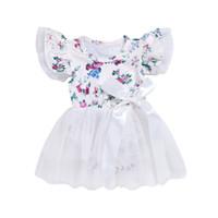 детские галстуки для девочки оптовых-Девочка одежда ребенок белый печати, чтобы связать лук шею моды платье 2018 новый стиль моды стиль