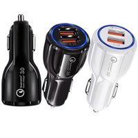 Wholesale universal car gps for sale - Quick Charge Car Charger Fast adaptive Car chargers for iphone Samsung gps A Dual Usb Car Charger Qualcomm Qc Power adapter