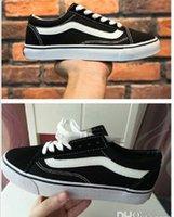 vs dantel toptan satış-Yeni moda Eski Skool ilkbahar ve sonbahar erkekler ve kadınlar kanvas ayakkabılar Dantel-up Rahat spor Ayakkabı vs daireler Yürüyüş ayakkabı Unisex sneakers