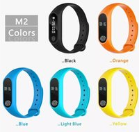 Wholesale oled watch display resale online - M2 Fitness tracker Watch Band Heart Rate Monitor Waterproof Activity Tracker Smart Bracelet Pedometer Call remind Health With OLED Display