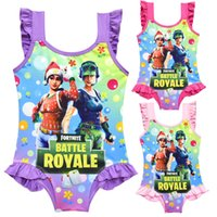 Wholesale 3 colors Game Fortnite printing children Swimwear summer One Pieces baby girls Cosplay Swimsuit cartoon Bikinis MMA356