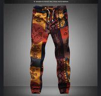 Wholesale mens korean fashion clothes - Summer Vintage Floral Cotton Elastic Pants Korean Fashion Mens Casual Pants Mens Clothing Plus Size M-5XL