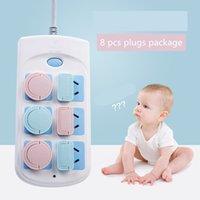 baby-sicherheitsstecker-abdeckungen großhandel-Socket Electrical Shock Schutzhülle 8 Stück Baby Protector Socket Schutzhülle Baby Plug Safety Plug