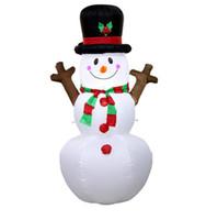 şişme bebek yeni toptan satış-Yeni 1.6 M Noel Partisi Şişme Şube El Kardan Adam Dekorasyon Çocuklar Noel Partisi Kardan Adam Bebek Hediye Oyuncak
