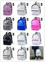 Wholesale laptops for sale online - 11 Colors Women Backpack With USB Charge laptop Hologram Laser Women Backpack Hot Sale Backpacks For Teenage Girls BBA91