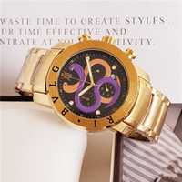 Wholesale unique luxury watches for sale - Group buy 2018 New style mens watches BV strainless steel mm case unique double snake cool waterproof watch small dials work Chronograph wristwatch