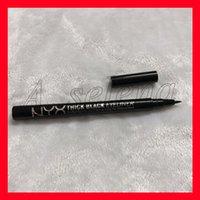 dicker eyeliner großhandel-Hot NYX Eyeliner dicken schwarzen Eyeliner kühlen schwarzen schnell trocknend einfach zu beschreiben, eine lange Zeit wasserdichter Schweiß