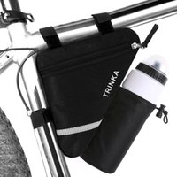 Wholesale bags water bottle pockets resale online - Bicycle Frame Triangle Bag Water Bottle Pocket Reflective Stripe Storage Pouch Bags Cycling MTB Road Bike Tube Corner Pannier