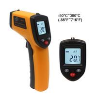 pistola infrarroja temperatura contacto láser al por mayor-Termómetro infrarrojo sin contacto de GM320 Termómetro infrarrojo de la temperatura del laser del IR -50 ~ 330C Grado Pistola electrónica del punto