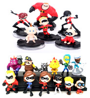 Wholesale violet movie - Lot of Movie The Incredibles 2 Action Figure Play set Toy Bob Helen Frozone Violet Parr Dash Jack Doll Cake Topper kids Gift