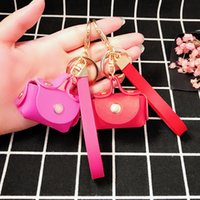 Wholesale led glasses for sale online - Factory direct sales Korea creative PU leather beauty Bag Handbag Key Chain ornaments for men and women key pendants