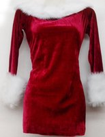 Wholesale Santa Costumes Woman - santa claus costume MOONIGHT Women Christmas Dress Sexy Red Christmas Costumes Santa Claus for Adults Uniform Kimono Xmas Costume M L XL 2XL