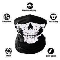 yeni kayak kafatası maskesi toptan satış-10X Balaclava Kafatası Bandana Kask Boyun Yüz Maskeleri Bisiklet Motosiklet Kayak Açık Spor Için Cadılar Bayramı İskelet Eşarp Yeni Stil