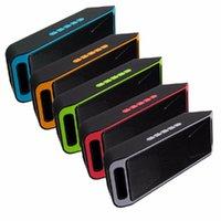 altavoces manos libres al por mayor-NUEVO SC-208 Mini Altavoces portátiles con Bluetooth Altavoz manos libres inteligente inalámbrico Soporte para subwoofer de gran potencia TF y radio FM USB