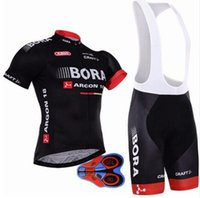 Wholesale Cream Uv - 2018 hot Cycling jersey bora cycling bib shorts Summer Style cycling set Bicycle Quick Drying Short Sleeve Breathable Men's Pro Shirts Bi