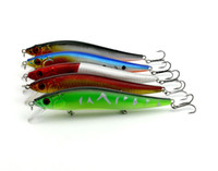 завлекает vmc крючки оптовых-Fly Fishing BASS Crankbait имитация пластика Большая приманка с 3 крючками VMC 14см 23g Minnow Laser Lures рыболовные снасти