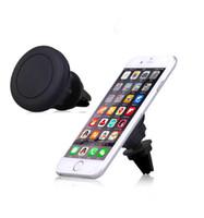 gps sahipleri bağlar toptan satış-Evrensel Hava Firar Manyetik Araç Telefonu Tutucu Dağı Samrt telefonu Tablet GPS Iphone X 8 7 Samsung S8 için
