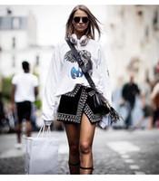 ingrosso i branelli neri liberano il trasporto-Trasporto libero 2018 perline nere fessura laterale impero breve gonne delle donne di marca stesso stile gonne donna faldas mujer m0057