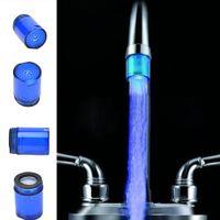 Wholesale Automatic Tap Sensor - Glow LED Light Faucet Tap Water Shower Automatic 7 Colors Changing Glow Shower Tap Head Kitchen Pressure Sensor