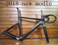 Wholesale carbon road disc - hot sell 2018 new T1000 UD carbon road bike frame racing bicycle racing frameset+handlebar and thru AXle disc brake can be XDB DPD ship