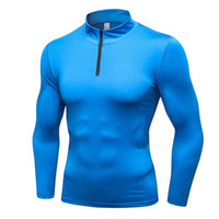 Wholesale collars for blouses online - KWAN Z thermal underwear half zipper pajamas for men stand collar compression underwear men calzoncillos hombre blouses thermos