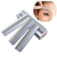 ferramentas de maquiagem equipamentos venda por atacado-Sobrancelha Trimmer Lâminas de Corte De Sobrancelha Aparador de Equipamentos de Aço Inoxidável Profissional Aparador de Sobrancelha Afiada Substituir Lâmina de Barbear Ferramentas de Maquiagem